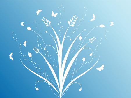Flowers and butterflies - vector Stock Vector - 436816