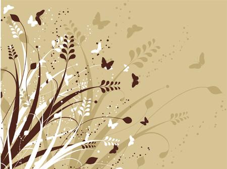 Flowers and butterflies - vector Stock Vector - 436817