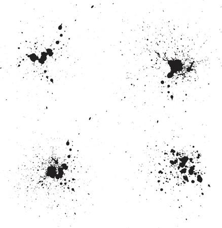 bleed: Ink splats - vector