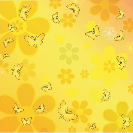 Flowers and butterflies - vector Stock Vector - 441001