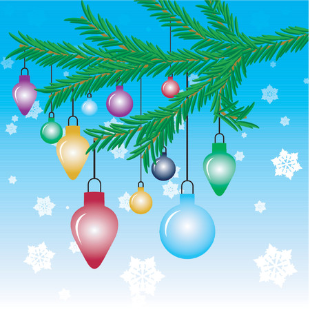 ornaments vector: Christmas tree ornaments - vector