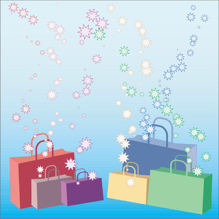 Shopping bags - vector Vector
