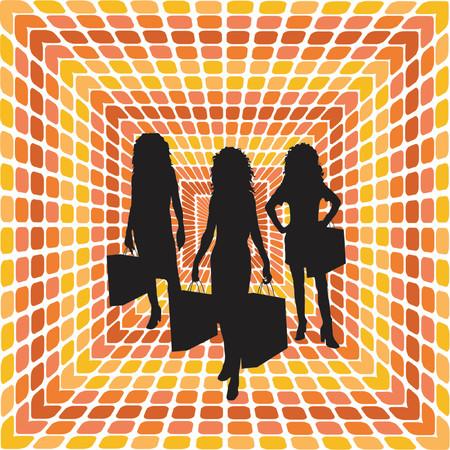 musicoterapia: Shopping viaggio - vettore