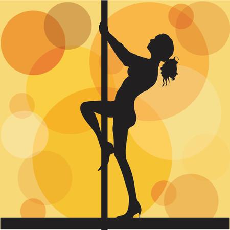 pole dancer: Pole dancer - vector Illustration