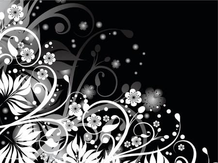 Floral chaos - vector Stock Vector - 441402