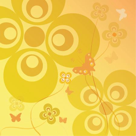 Flowers and butterflies - vector Stock Vector - 446007