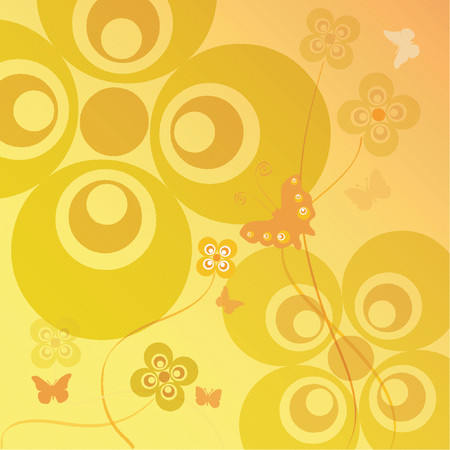 Flowers and butterflies - vector Stock Vector - 446007
