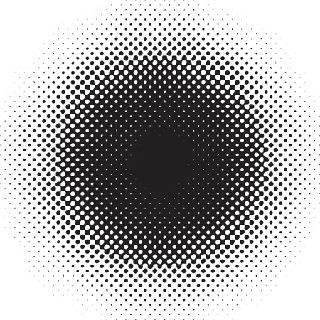 faded: Halftone dots - vector
