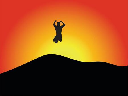 jump for joy: Jump for joy - vector Illustration