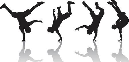 Breakdancers - vector Vector