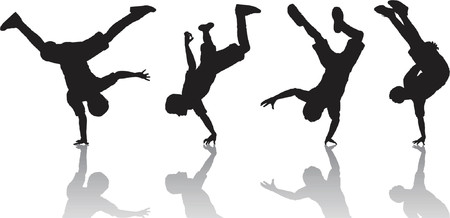 breakdancer: Breakdancers - vector