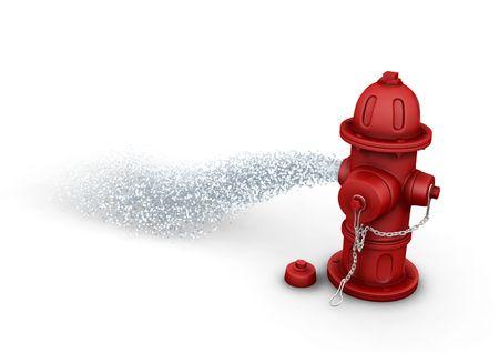borne fontaine: Bornes d'incendie de pulv�risation d'eau - 3D render Banque d'images