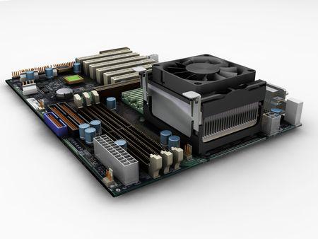 dimm: Motherboard - 3D render