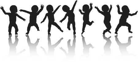 youngsters: Dancing  - vector