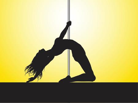 Pole dancer - vector Çizim