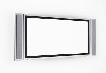 plasma screen: Plasma screen television - 3D render
