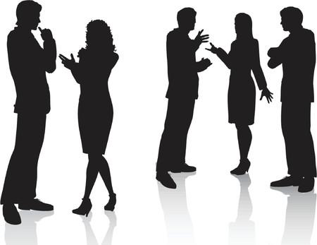 woman speaking: Business conversations - vector Illustration