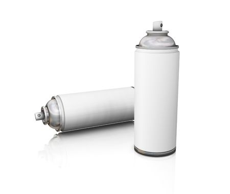 Spray cans - 3D render photo