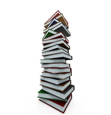 Huge stack of books - 3D render Stock Photo - 466637