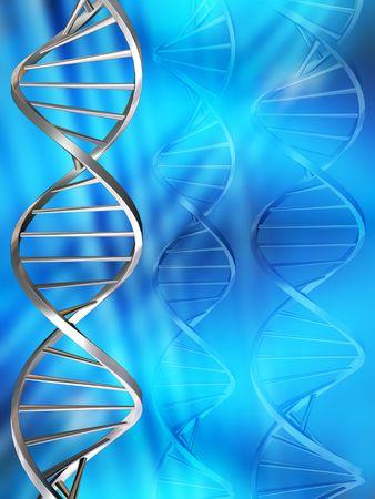genes: Hebras de ADN  Foto de archivo