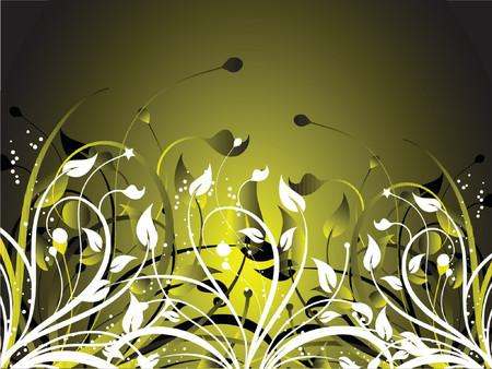Floral chaos - vector Stock Vector - 475191