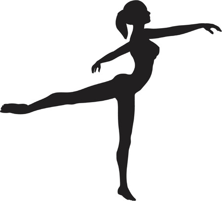 dancer silhouette:  dancer - vector