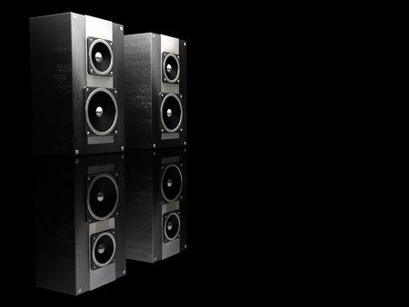 3d: Haut-parleurs - 3D render Banque d'images