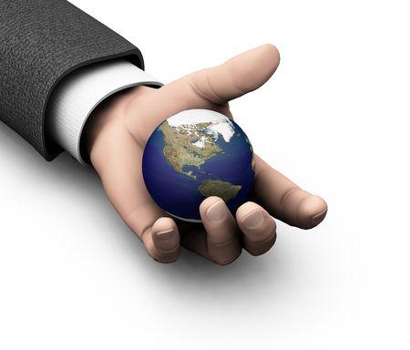 el mundo en tus manos: El mundo en sus manos - 3D render