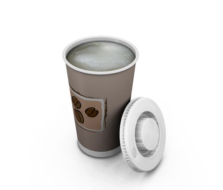 cappuchino: Coffee to go - 3D render