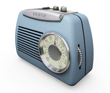 radio retr�: Retro Radio - rendering 3D Archivio Fotografico