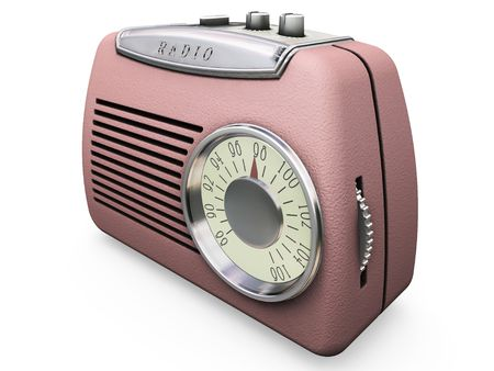 Retro radio - 3D render photo