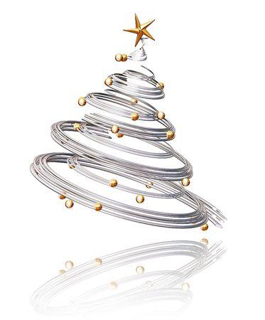 3D Christmas tree photo