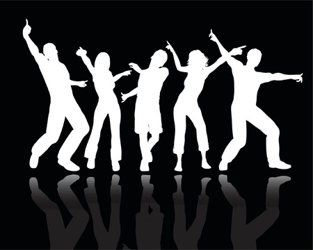 People dancing - vector Stock Vector - 499929