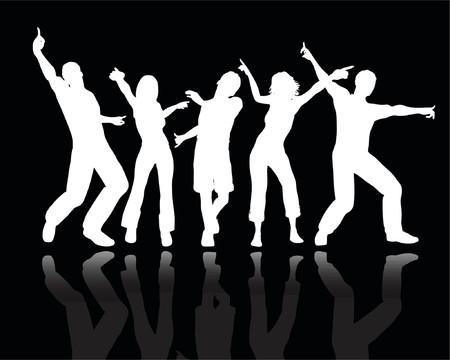 man vector: People dancing - vector