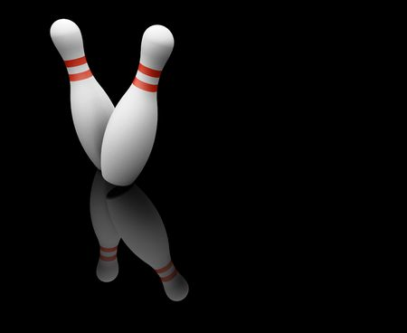 skittles: 3D render of bowling skittles Stock Photo