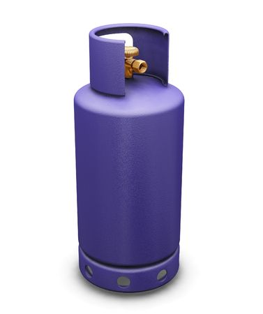 butane: 3D render of a butane gas bottle