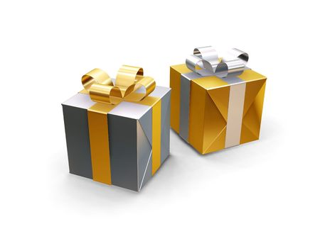 3D renders of gifts photo
