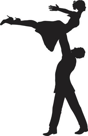 sexy girl dance: Dancers - vector