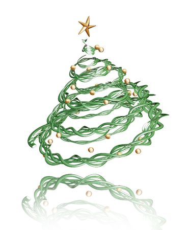 3D render of a twisted Christmas tree Stock Photo - 511989