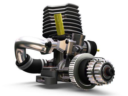 car engine: 3D render of a car engine