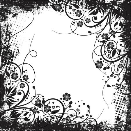 grungey: Floral grunge - vector
