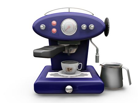 3D render of a coffee machine Stock Photo