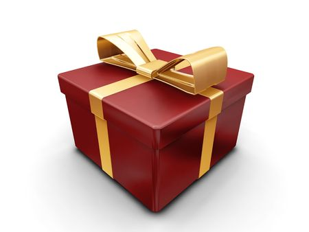 3D render of a wrapped gift Stock Photo - 533783