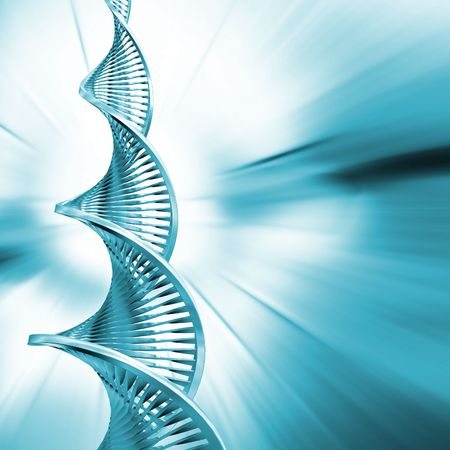 DNA strands on abstract background Stock Photo - 557480