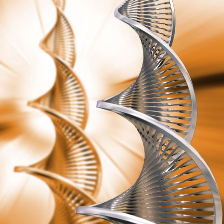 DNA strands on abstract background Stock Photo - 557483
