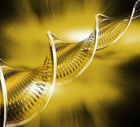DNA strands on abstract background Stock Photo - 557475