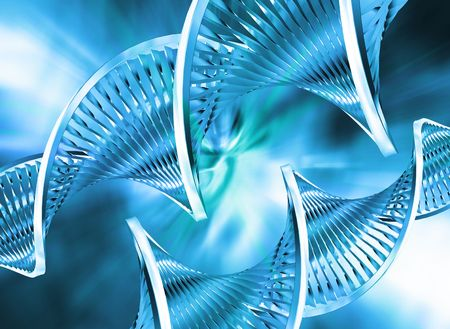 DNA strands on abstract background Stock Photo - 557468
