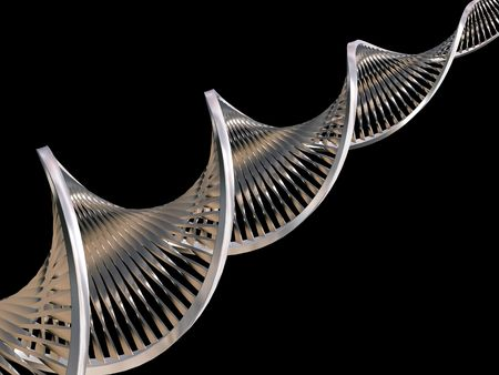 raytrace: Metallic DNA strands