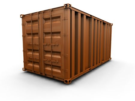 seafreight: 3D render of a freight container