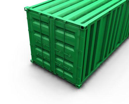 seafreight: 3D render de un contenedor de carga